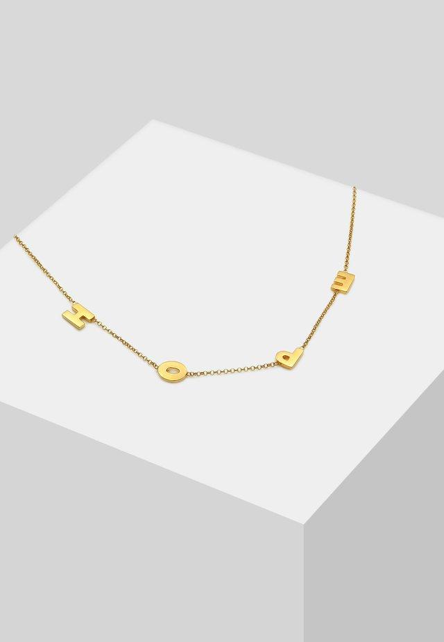 HOPE WORDING TREND - Náhrdelník - gold-coloured