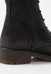 Felmini - CASTER - Lace-up ankle boots - morat black - 2