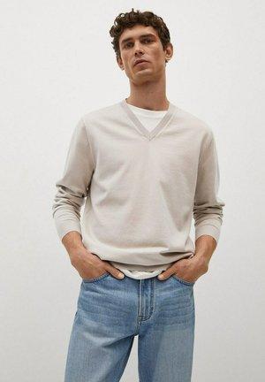 Stickad tröja - gris clair/pastel