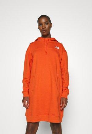 ZUMU HOODED DRESS - Day dress - burnt ochre