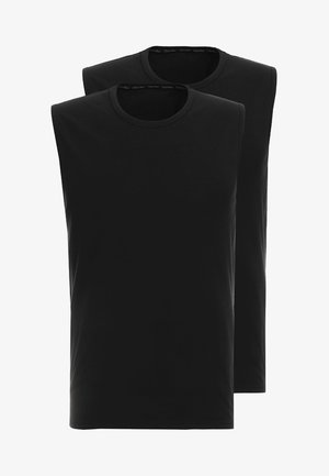 CREW NECK TANK 2 PACK - Unterhemd/-shirt - black