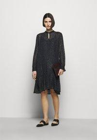 Bruuns Bazaar - ALEXANDRIA CAMARI DRESS - Shirt dress - navy blue - 1