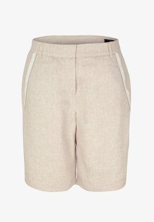 BERMUDASHORTS AUS LEINEN - Shorts - beige