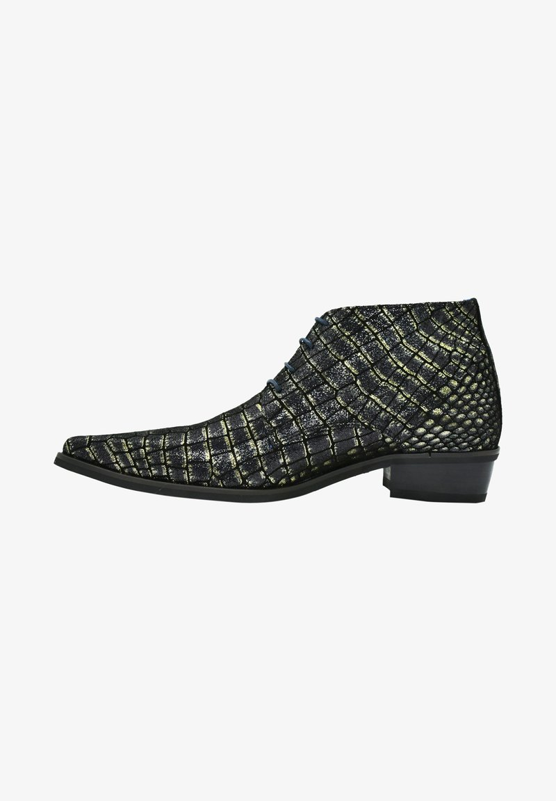Fertini - Lace-up ankle boots - black croco
