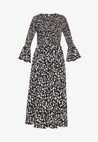 Who What Wear - THE SMOCKED MIDI DRESS - Day dress - black / white - 4