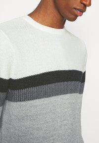 Key Largo - HANSI ROUND NECK - Jumper - off-white/grey - 5