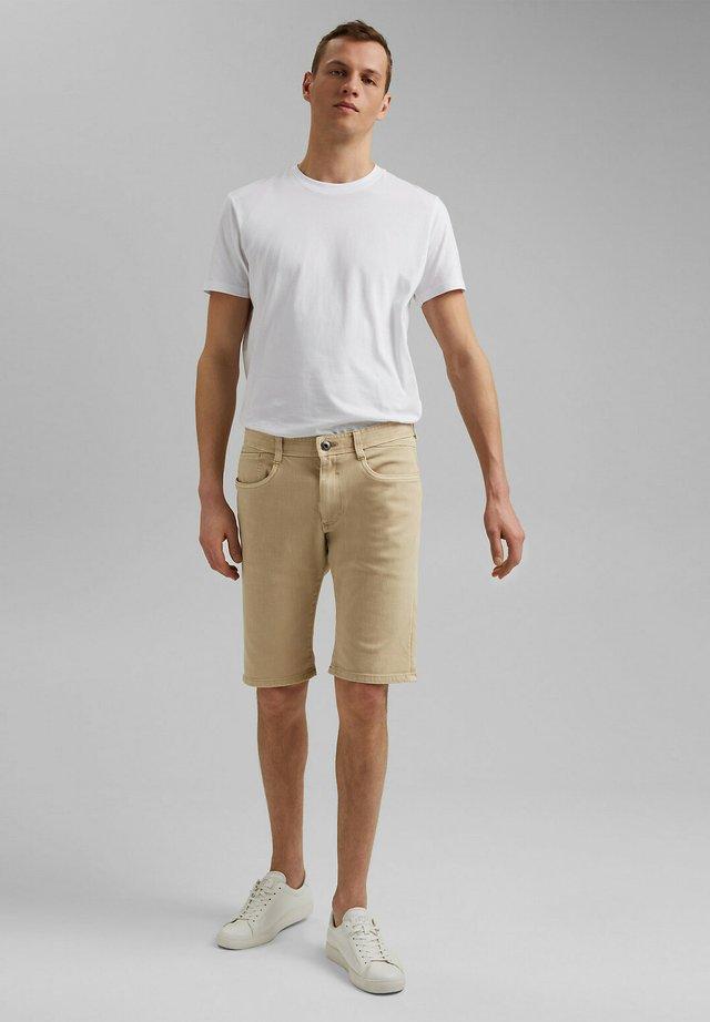 Denim shorts - beige