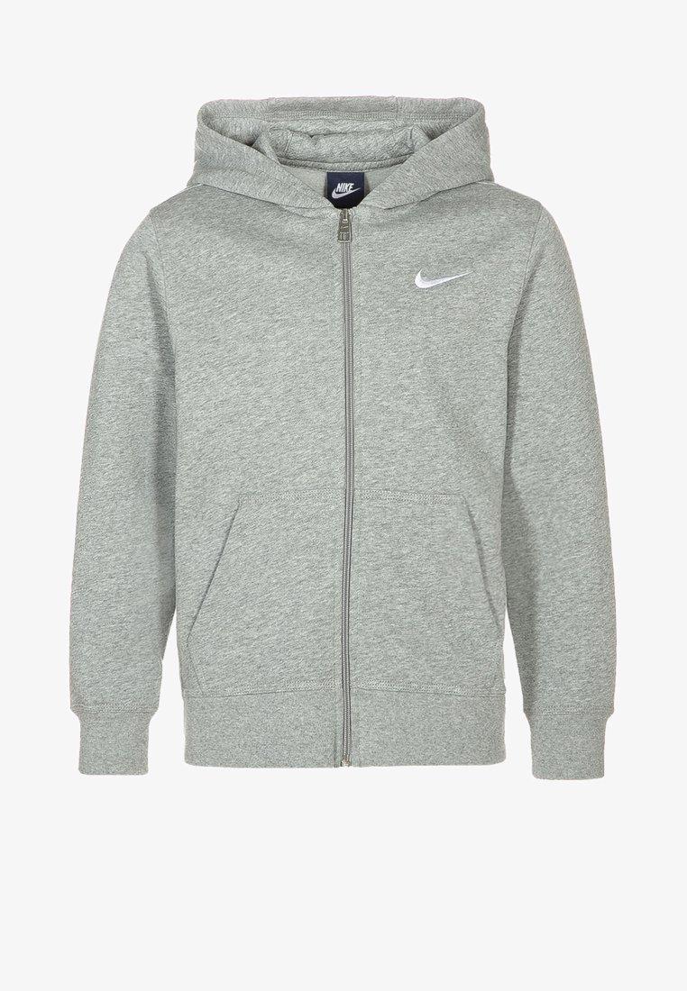 Nike Performance - FULL ZIP - Zip-up hoodie - dark grey heather/white
