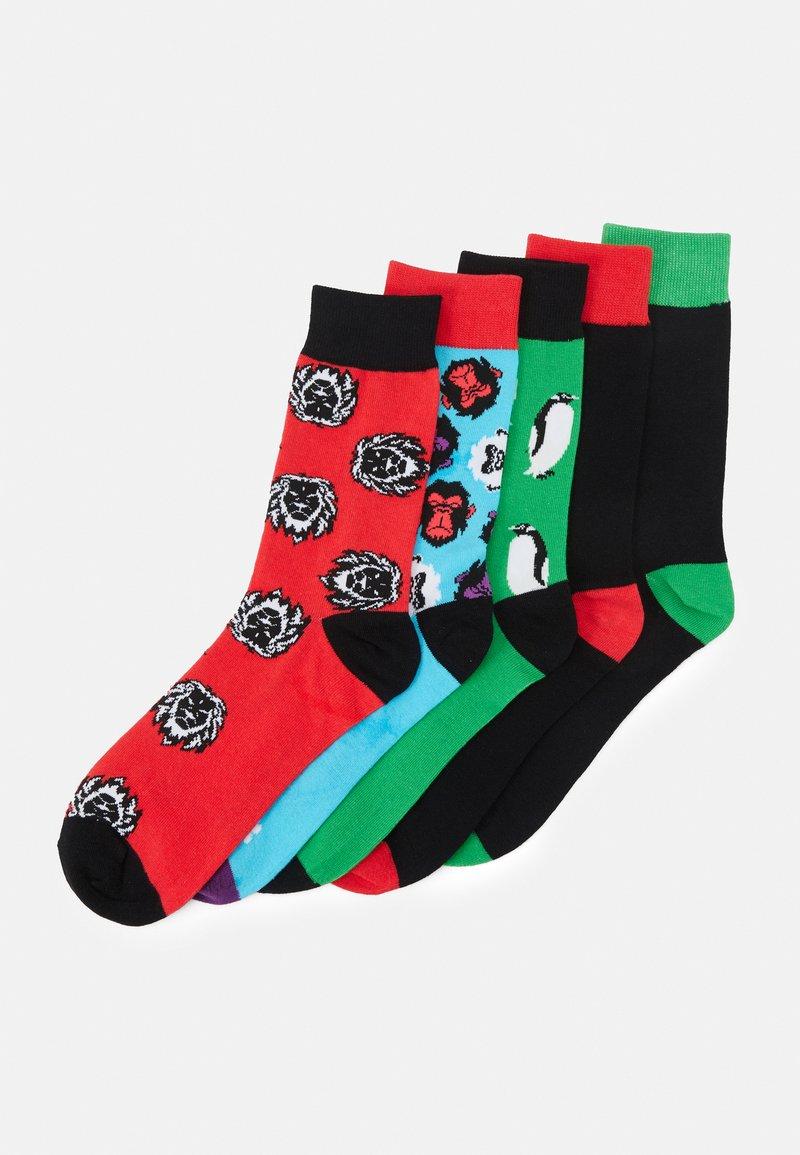 Jack & Jones - JACANGUS SOCK 5 PACK - Socks - red/blue/black