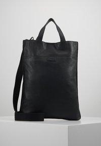 Zign - UNISEX LEATHER - Shopping bags - black - 1