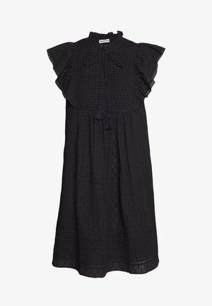 PINTUCK FRILL DRESS - Day dress - black