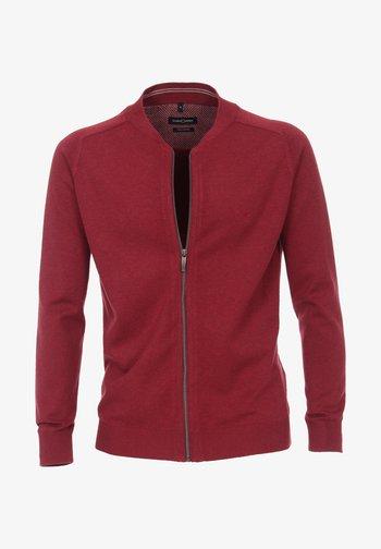 Zip-up sweatshirt - dark red