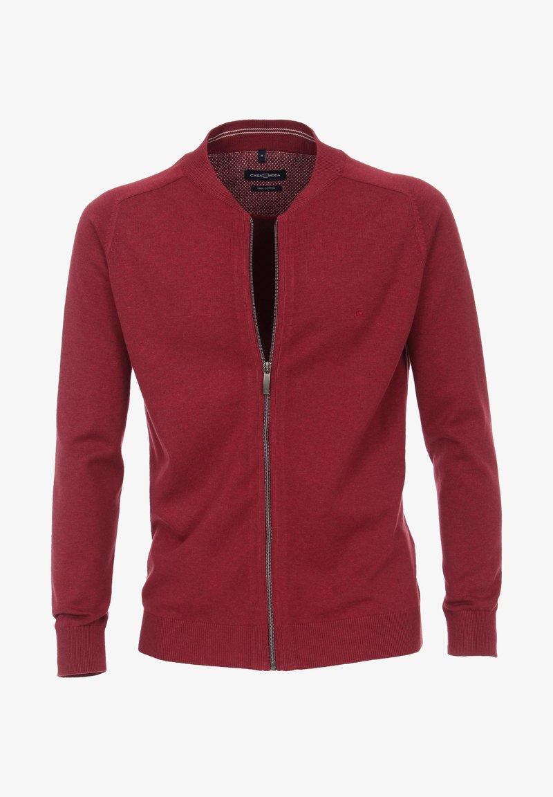 CASAMODA - Zip-up sweatshirt - dark red