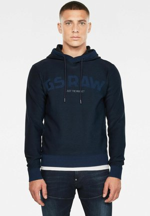 GSRAW HOODED - Luvtröja - rinsed