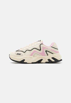 Sneakers laag - bone/pink/black