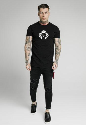 PRESTIGE GLOW GYM TEE - T-shirt med print - black