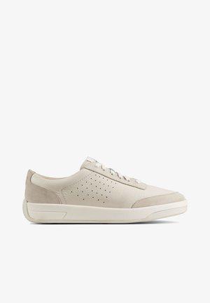 Sneakers laag - weißes leder