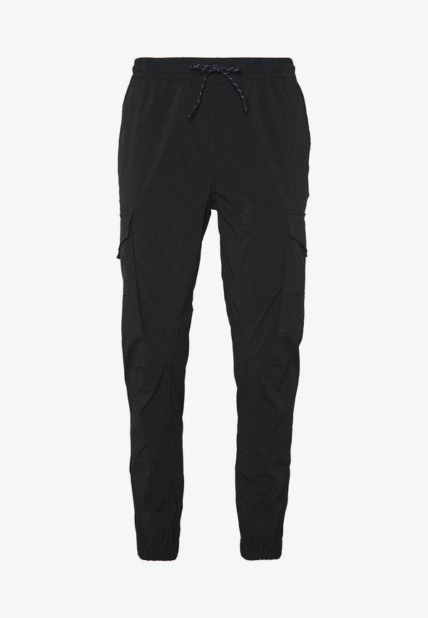 Jack & Jones JJIGORDON JJFLAKE PANT - BojÓwki - black/czarny Odzież Męska GQMQ