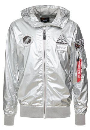 HOODED NASA - Chaqueta fina - silver