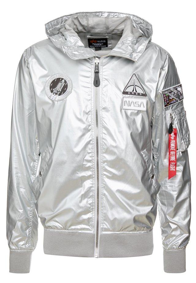 HOODED NASA - Summer jacket - silver