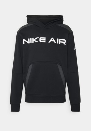 AIR HOODIE - Huppari - black/dark smoke grey/white
