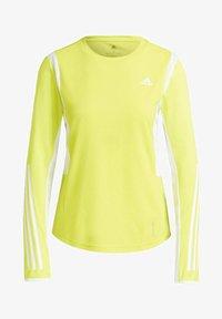 adidas Performance - OWN THE RUN 3-STRIPES RUNNING LONG-SLEEVE TOP - Maglietta a manica lunga - yellow - 2