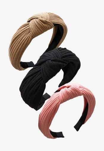 3 PACK - Hair styling accessory - camel black pink