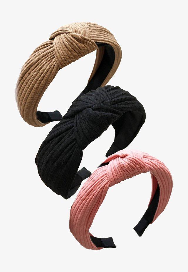 3 PACK - Příslušenství kvlasovému stylingu - camel black pink