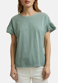 Esprit - WASH TEE - Print T-shirt - turquoise - 4