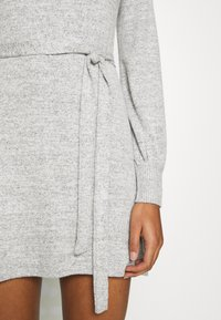 Abercrombie & Fitch - BELTED COZY DRESS - Jumper dress - gray - 7