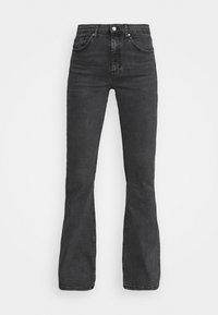 Topshop - JAMIE FLARE - Flared Jeans - washed black - 4