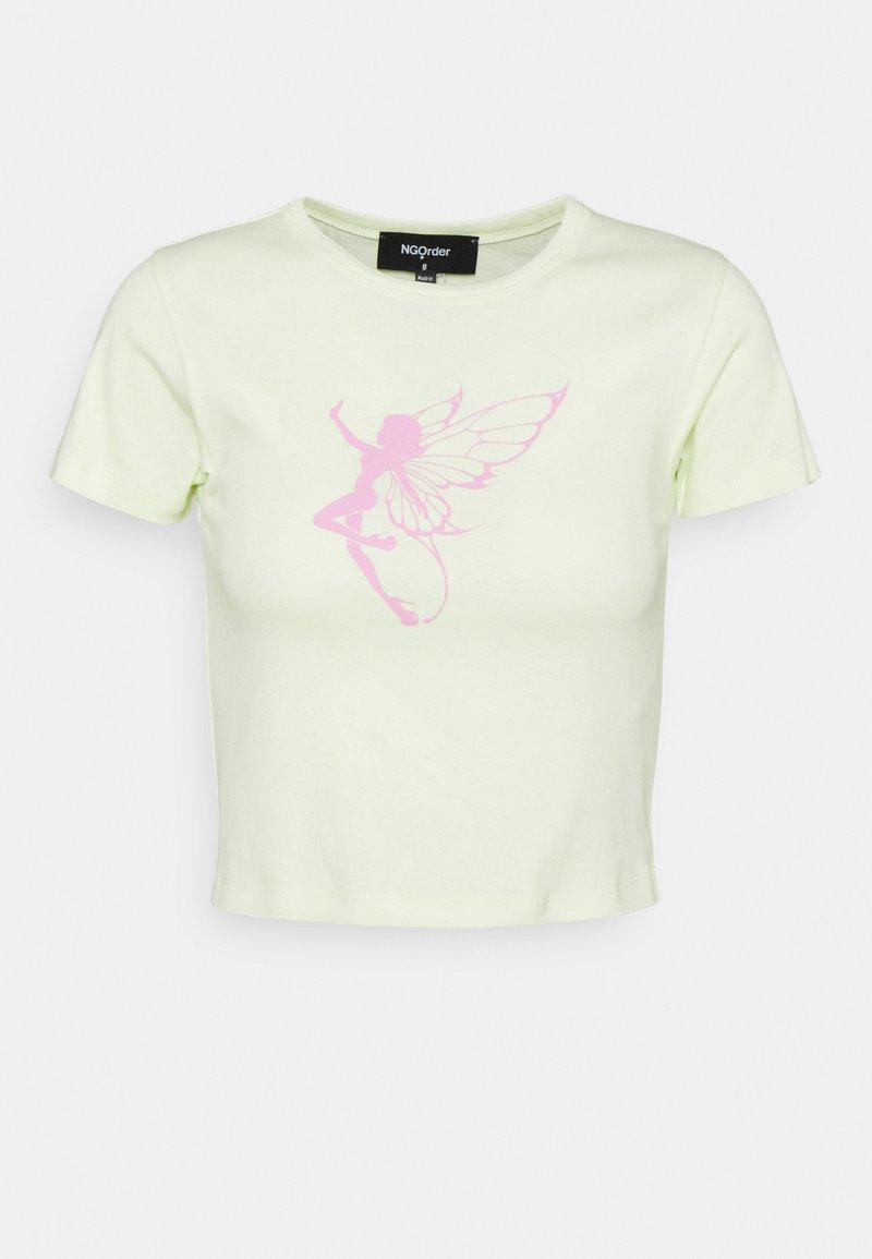 NEW girl ORDER - RAINBOW FAIRY - T-shirt print - green