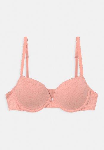 DIM TOUCH PADDED CORBEILLE BRA - Underwired bra - blush