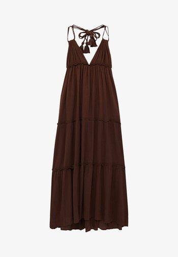 Sukienka letnia - mottled light brown