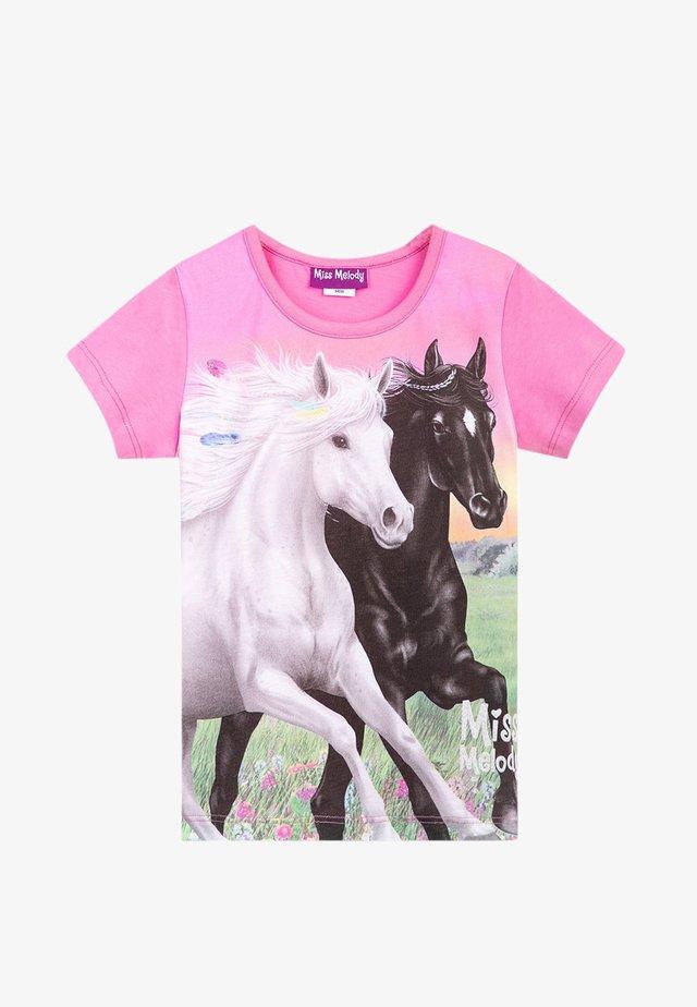 MISS MELODY - T-shirt con stampa - fuchsia pink
