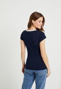G-Star - GRAPHIC LOGO SLIM - Camiseta estampada - sartho blue - 2