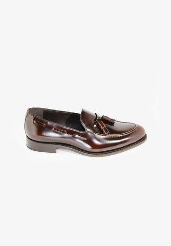 Elegantní nazouvací boty - dark brown
