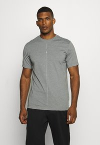 Nike Performance - DRY TEE YOGA - Basic T-shirt - iron grey/smoke grey - 0