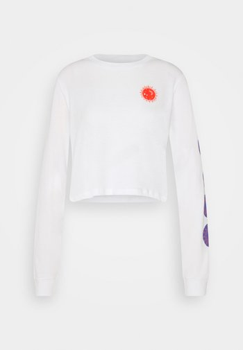 OPEN YOUR EYES SKATE TEE - Long sleeved top - white