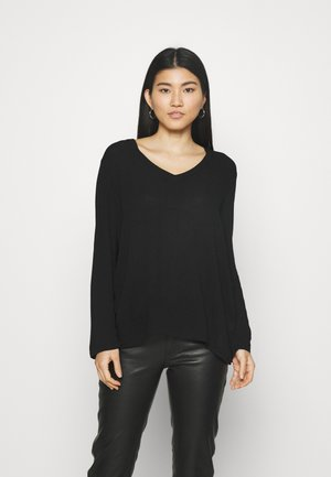 V neck tunic blouse - Bluser - black