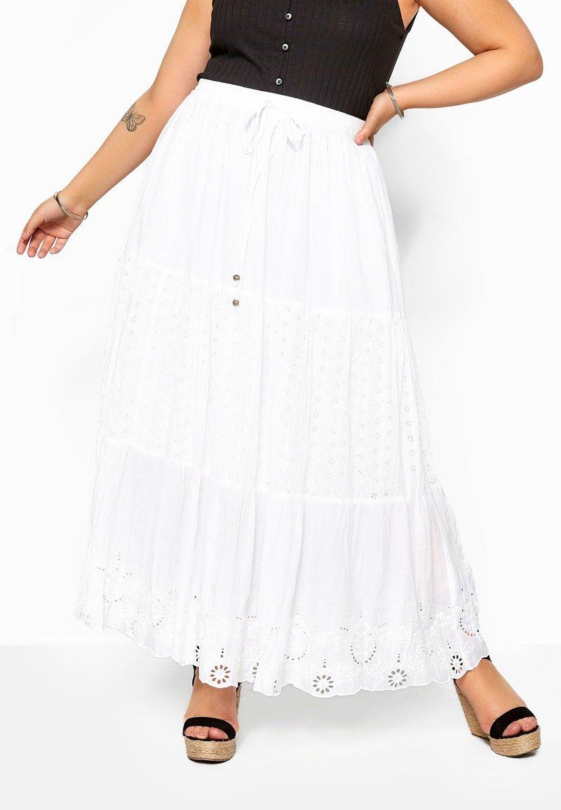 Yours Clothing - Maxi skirt - white