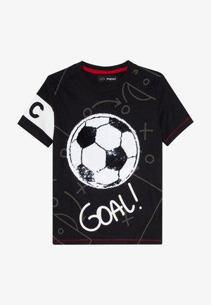 MANOLO - T-shirt imprimé - black