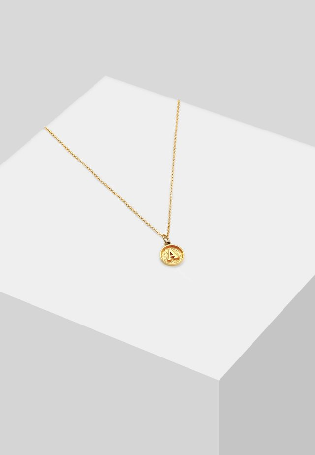 LETTER A - Halsband - gold-coloured