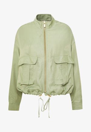 BOMBER JACKET SAFARI LOOK - Summer jacket - safari green