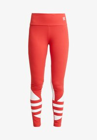 adidas Originals - LARGE LOGO ADICOLOR LARGE LOGO TIGHT TIGHTS - Legíny - lush red/white - 3