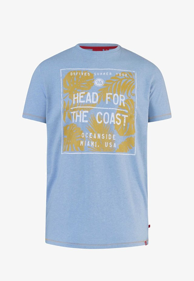 COAST GRAPHIC - Print T-shirt - blue