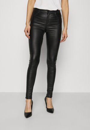 COATED FRANKIE - Trousers - black
