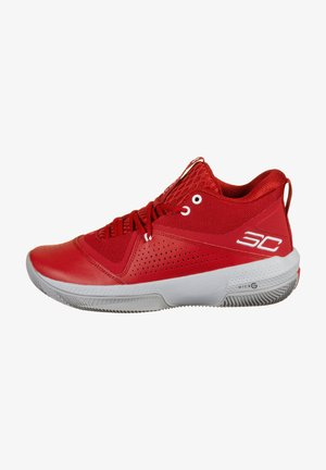 Basketball shoes - red / white / white