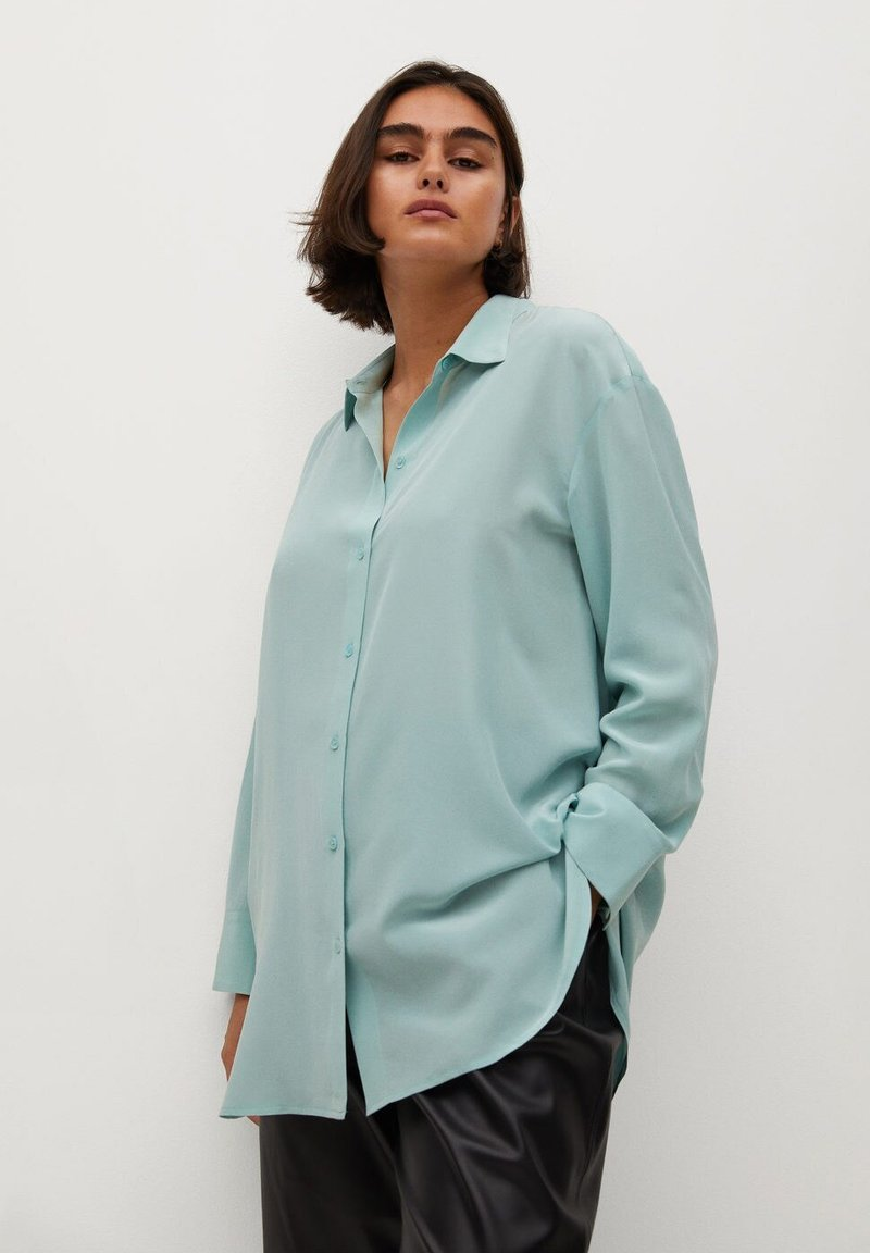 Violeta by Mango - SEDERA - Button-down blouse - wassergrün