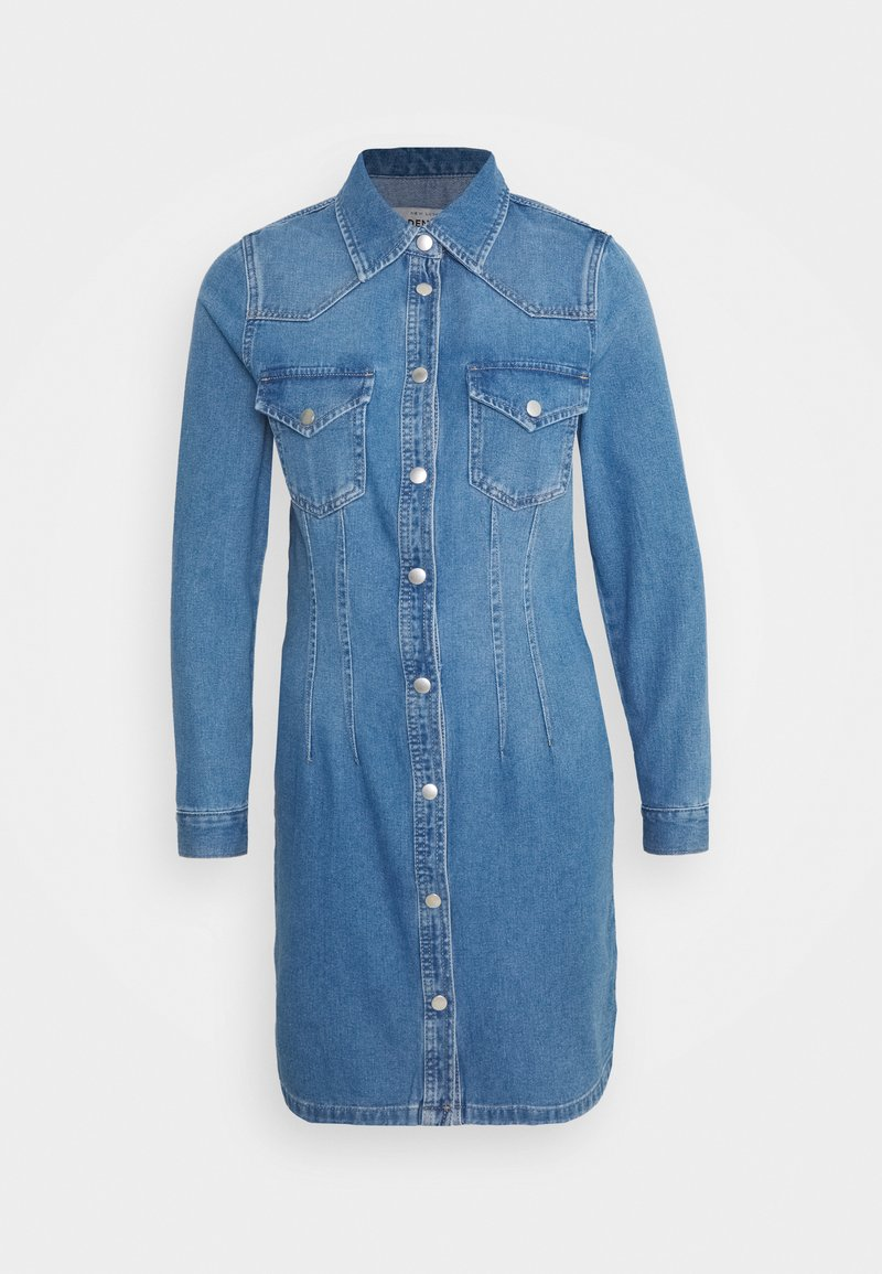 New Look - RONDA DART DRESS - Robe en jean - mid blue